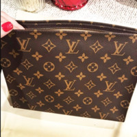 LV tide brand female classic clutch bag cosmetic bag wash bag