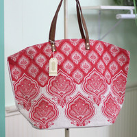Jaipur Print Tote Bag {Red}
