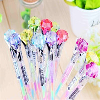 New Creative Stationery candy color diamond style gel pen 6 colors in one pen 0.8mm = 1958756228