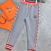 GUCCI GG Tnt Tape Casual Sport Pants Sweatpants
