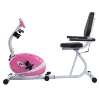 Sunny Health and Fitness Pink Magnetic Recumbent Bike