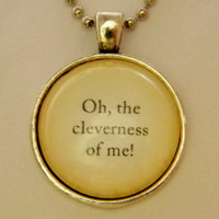 Peter Pan Necklace. Oh The Cleverness Of Me Quote. 18 Inch Ball Chain.