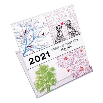 2021 Idea Chíc Seasons 12-Month Desk Calendar
