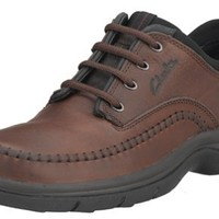 Clarks Men`s Portland Oxford, Brown Leather, 9.5 M