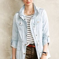 Frontier Chambray Anorak by Anthropologie Light Denim