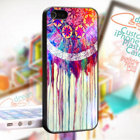 Dream Catcher Painting Colorful - JDC999TB - Print On Hard Cover - iPhone 4 / 4S Case - iPhone 5 Case - Black / White / Clear