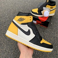 "Air Jordan 1 ""Yellow Toe"" AR1020-700"