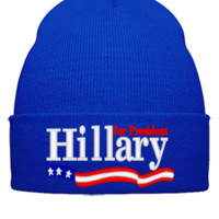 HILLARY 2016 embroidery - Beanie Cuffed Knit Cap
