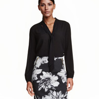 Patterned Pencil Skirt - from H&M