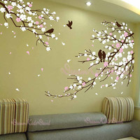 Cherry blossoms Wall Decal Wall Sticker tree decals-DK006