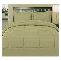 ComfortLiving Down Alternative 5 Piece Embossed Comforter Set - Sage (Queen)