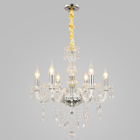 UNITARY BRAND European Luxury Crystal Chandelier Max 240W With 6 Lights Plating Finish