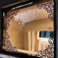 4Pcs DIY Style Grilles Wall Stickers For Kids Rooms Corner Line Wall Sticker Kitchen Cabinet Mirror Bathroom DecalsHome Decor