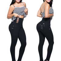 Black Colombian High Waisted Jeans