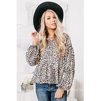 Sweet On You Cropped Cheetah Print Top
