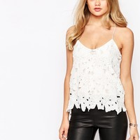 River Island V Neck Embellished Lace Cami