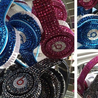 Beats by Dre solo custom bling Crystalized headphones