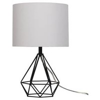 Diamond Wire Table Lamp Painted Base Black - Threshold™