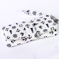 WOMEN IPHONE 6 WALLET Anchor Navy Marine Card Holder Pouch Sleeve Bag Purse Samsung Galaxy s3 Galaxy s4 Note 2 Note 3 iPhone 4 4s 5 5s 5c