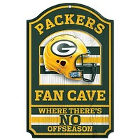 """Green Bay Packers Wood Sign - 11""""x17"""" Fan Cave Design"""
