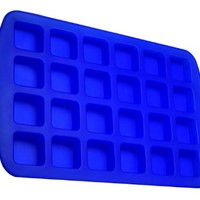 Better Value 24-Cavity Silicone Brownie Squares Baking Mold (1, Blue)