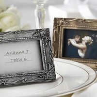 Antique Gold Place Card Holder, Picture Photo Frame