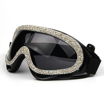 2020 Fashion oversized  windproof sunglasses women luxury designer rhinestone goggles men sunglasses