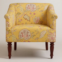 Yellow Floral Charlotte Chair - World Market