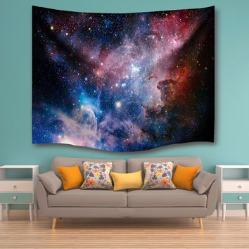 Star Galaxy Tapestry Wall Hanging Sandy Beach Towel Yoga Mat Picnic Blanket Throw Rug Rectangle Wall Carpet Polyester 2017 New