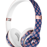 Micro Coral Flowers Over Navy Full-Body Skin Kit for the Beats by Dre Solo 3 Wireless Headphones