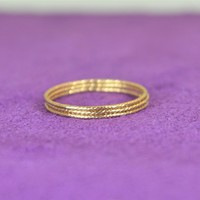 Thin Bohemian Gold Filled Sparkle Ring