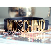 MOSCHINO letters Belt fashion wild candy candy belt Black