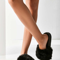 UO Faux Fur Pool Slide - Urban Outfitters