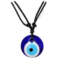 Glass Evil Eye Good Luck & Protection Necklace on Sale for $7.99 at HippieShop.com