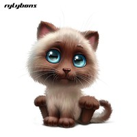 rylybons funny body car sticker animal 3D cartoon Lovely Cat 15*18 widow car stickers and decals car-styling accessories for Kia