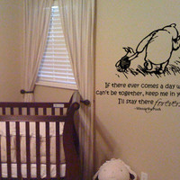 Classic Winnie the Pooh and Piglet You'll be in my heart forever vinyl wall decal