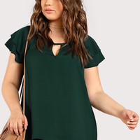 Plus Front Keyhole Loose Top