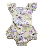 Stylish born Infant Baby Floral Tutu Romper