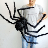 Halloween Decoration Spider Haunted House Prop Indoor Outdoor Plush Puppet Toy Party Supplies