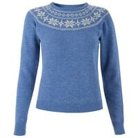 'Woodward' Blue Knitted Jumper