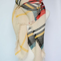 Plaid Blanket Scarves - 6 colors to choose from!