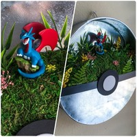 Large Poke Ball Wall Hanging - Salamence - 10 inch