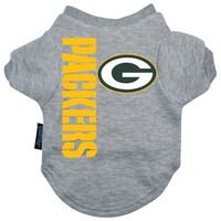 Green Bay Packers Dog Tee Shirt - Small