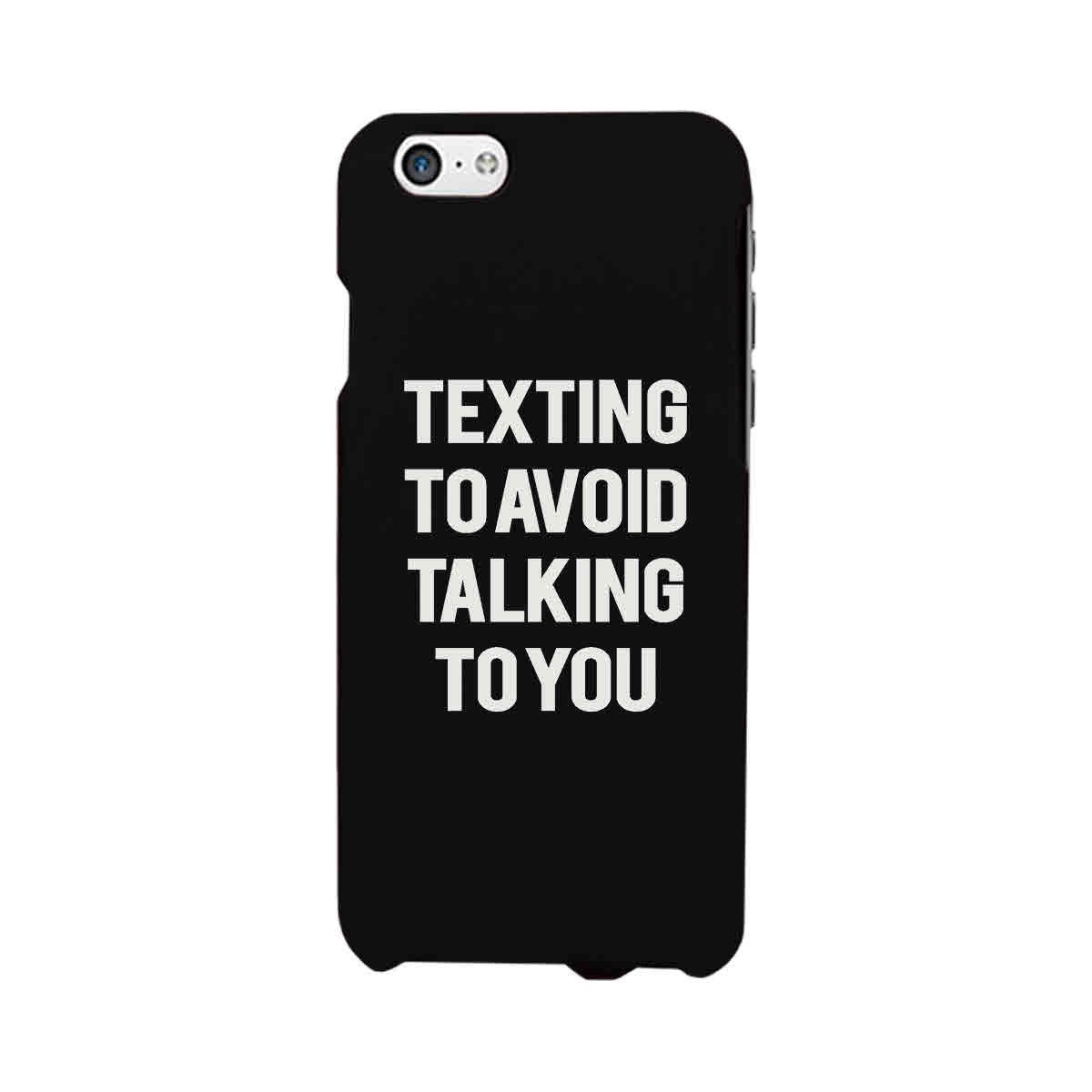 Image of Texting To Avoid Talking To You Funny Case Cute Graphic Design Cover