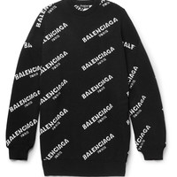 Balenciaga - Oversized Intarsia Wool-Blend Sweater