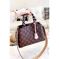 LV MONTAIGNE BB 2019 new woven handle handbag handbag