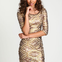 Baroque Sequin Party Dress