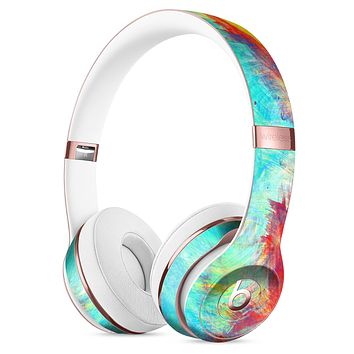Vibrant Colored Messy Painted Canvas Full-Body Skin Kit for the Beats by Dre Solo 3 Wireless Headphones