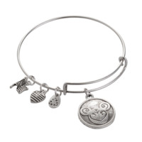 Alex and Ani style sheep pendant charm bracelet,a perfect gift !