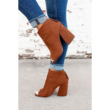 The Beth Anne Booties (Caffe)FINAL SALE